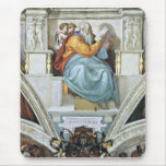 The prophet Zacharias detail by Michelangelo Mouse Pad