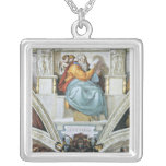 The prophet Zacharias detail by Michelangelo Custom Necklace