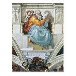 The prophet Zacharias detail by Michelangelo Postcards