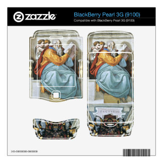 The prophet Zacharias detail by Michelangelo Decals For BlackBerry