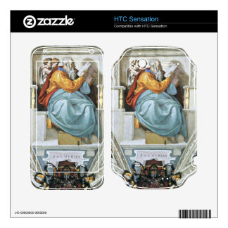 The prophet Zacharias detail by Michelangelo HTC Sensation Decals