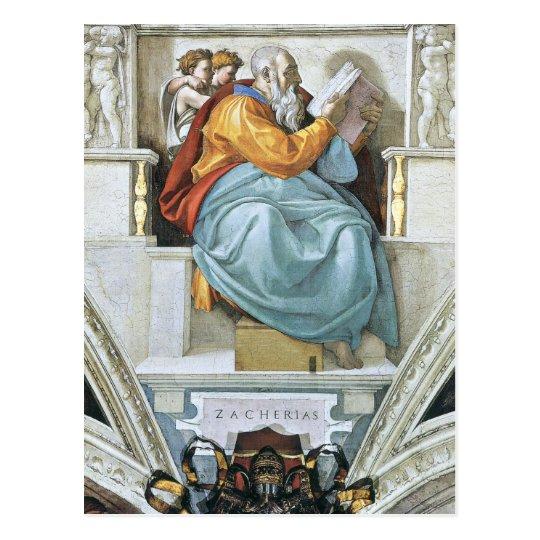 The prophet Zacharias Postcard