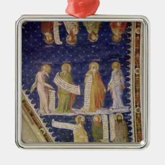 The Prophets Ezekiel, Jeremiah Square Metal Christmas Ornament