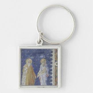 The Prophets fresco Salle de la Grande Audience Silver-Colored Square Keychain