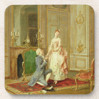 The Proposal (oil on panel) Beverage Coaster
