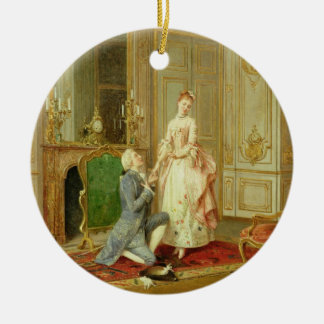 The Proposal (oil on panel) Ceramic Ornament