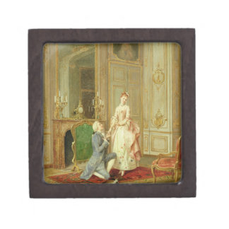 The Proposal (oil on panel) Jewelry Box