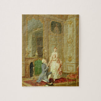 The Proposal (oil on panel) Jigsaw Puzzle