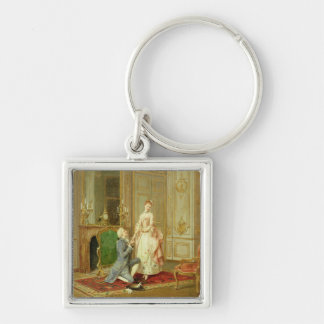 The Proposal (oil on panel) Keychain