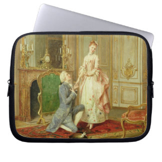 The Proposal (oil on panel) Laptop Computer Sleeve
