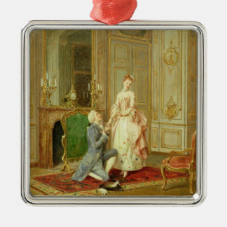 The Proposal (oil on panel) Metal Ornament
