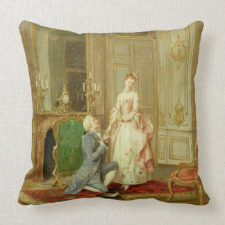 The Proposal (oil on panel) Throw Pillow