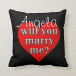 The Proposal Throw Pillow at Zazzle