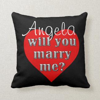The Proposal Throw Pillows