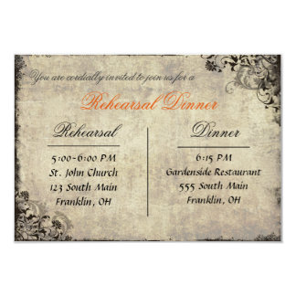 The Proposal Vintage Rehearsal Dinner Card
