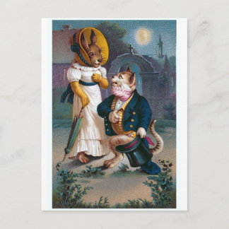 """The Proposal"" Vintage Valentine Holiday Postcard"