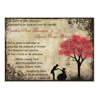 The Proposal Vintage Wedding Invitation in Red