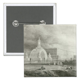 The Proposed Triumphal Arch from Portland 2 Inch Square Button