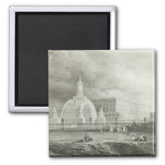 The Proposed Triumphal Arch from Portland 2 Inch Square Magnet