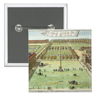The Prospect of Lincoln's Inn, for 'Stow's Survey Pinback Button