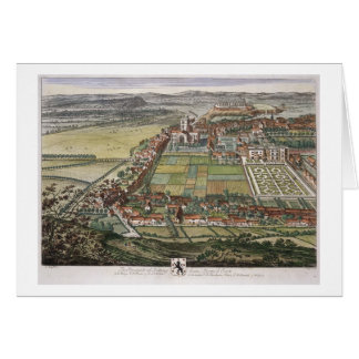 The prospect of Nottingham from the East engraved Greeting Card