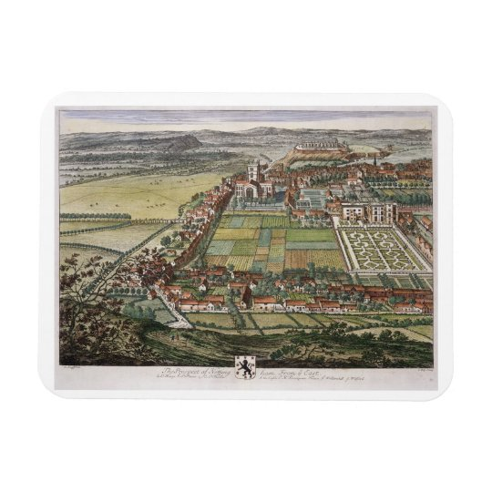 The prospect of Nottingham from the East engraved Magnet