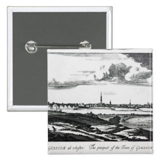 The Prospect of the Town of Glasgow Pinback Button