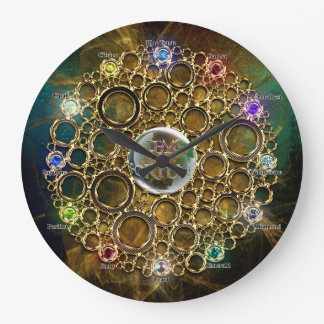 THE PROSPERITY CONNEXION : Gems of Fortune Large Clock