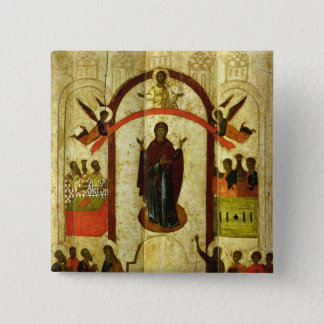 The Protection of the Theotokos  Russian icon Button