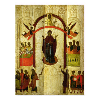 The Protection of the Theotokos  Russian icon Postcard