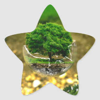 The protection of the tree star sticker
