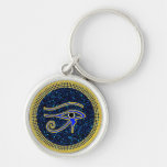 The Protective Eye Of Horus Silver-Colored Round Keychain