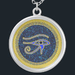 """The Protective Eye Of Horus Silver Plated Necklace<br><div class=""""desc"""">The Protective Eye Of Horus Necklace.</div>"""