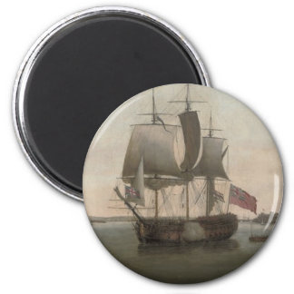 The Protector Ship 2 Inch Round Magnet
