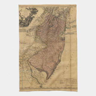 The Province of New Jersey Map (1777) Hand Towels