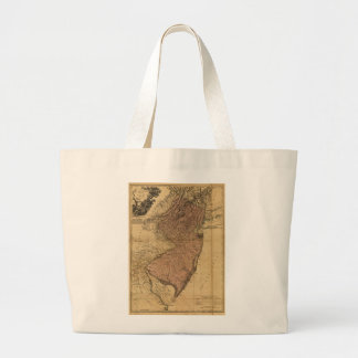 The Province of New Jersey Map (1777) Large Tote Bag
