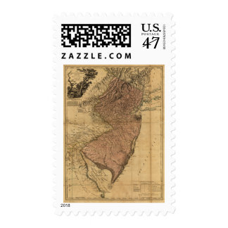The Province of New Jersey Map (1777) Postage