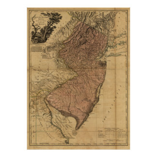 The Province of New Jersey Map (1777) Poster