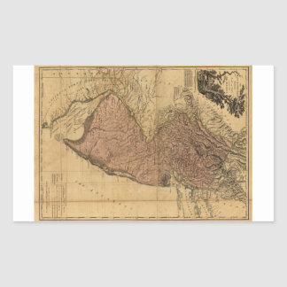 The Province of New Jersey Map (1777) Rectangular Sticker