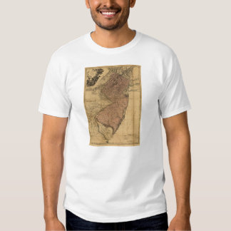 The Province of New Jersey Map (1777) T-shirt
