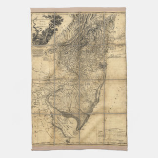 The Province of New Jersey Map (1778) Kitchen Towels