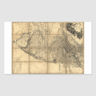 The Province of New Jersey Map (1778) Rectangular Sticker