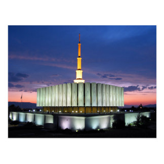 The Provo Utah LDS Temple Postcard