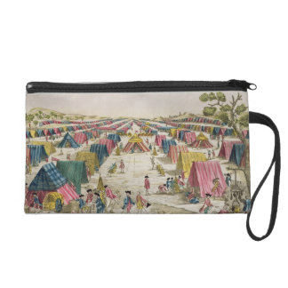 The Prussian Army Camp, Drawn from Life on the Fie Wristlet Purse
