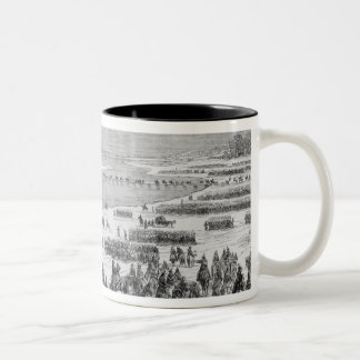 The Prussian army crossing the Shlei at Arnis Mug