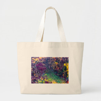 The Psychedelic Web Canvas Bag