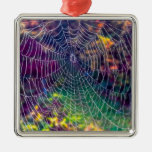 The Psychedelic Web Christmas Ornaments
