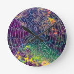 The Psychedelic Web Wall Clocks