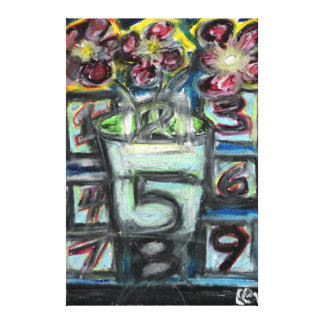 """""""The Psychic Telephone"""" Oil Pastel by Levi Glassro Canvas Print"""