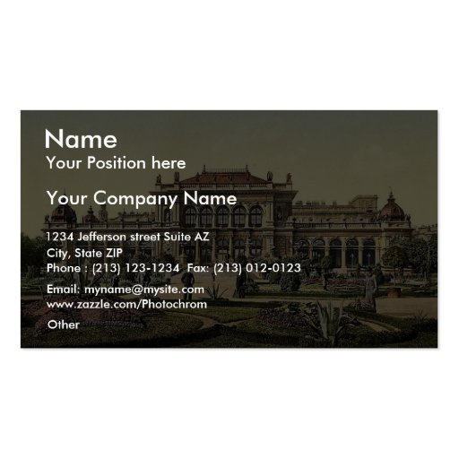 The public garden and casino, Vienna, Austro-Hunga Double-Sided Standard Business Cards (Pack Of 100)